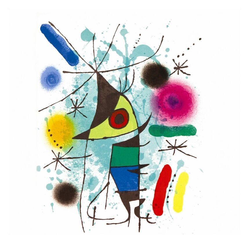 Le Poisson qui Chante - Joan Miró de AUX BEAUX-ARTS, Prodi Art, Joan Miró, dessin, peinture, abstrait, poisson, musique, chant