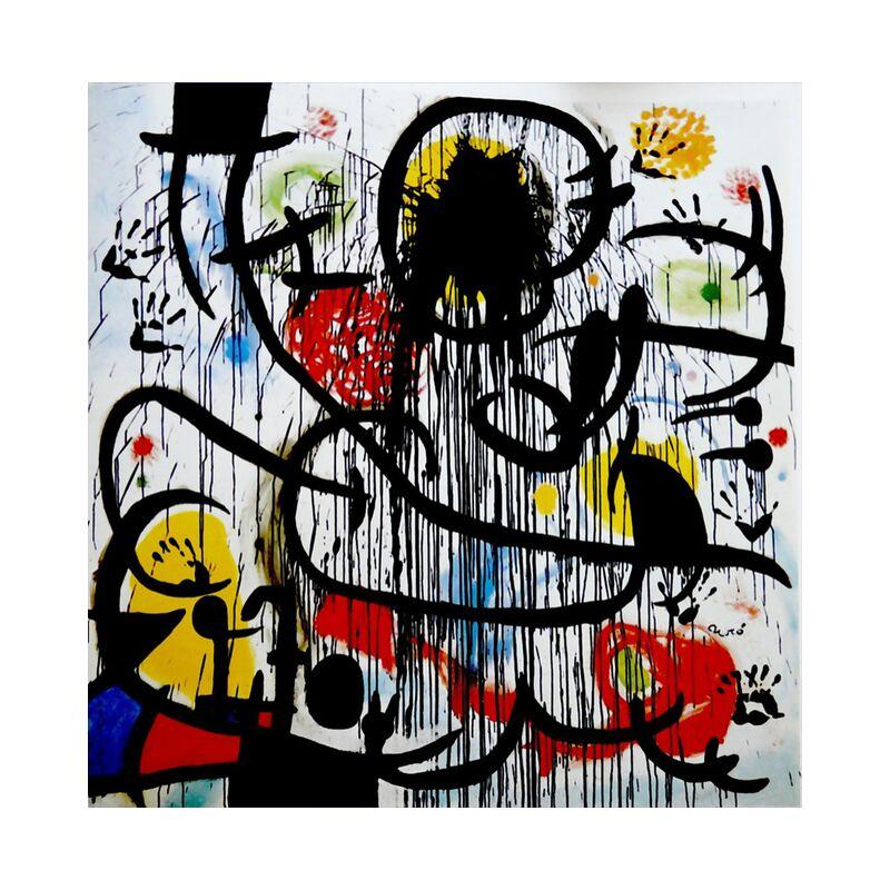 May, 1968 - Joan Miró desde AUX BEAUX-ARTS, Prodi Art, mai 1968, pintura, dibujo, Francia, revolución, Joan Miró