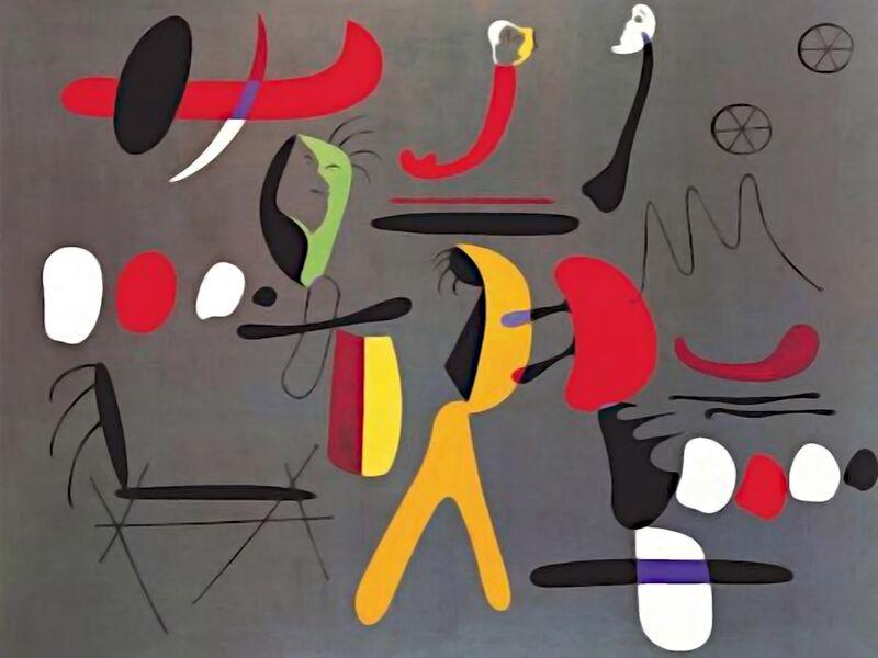 Peinture Collage - Joan Miró de AUX BEAUX-ARTS Decor Image