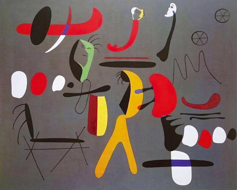 Collage Painting - Joan Miró desde AUX BEAUX-ARTS Decor Image