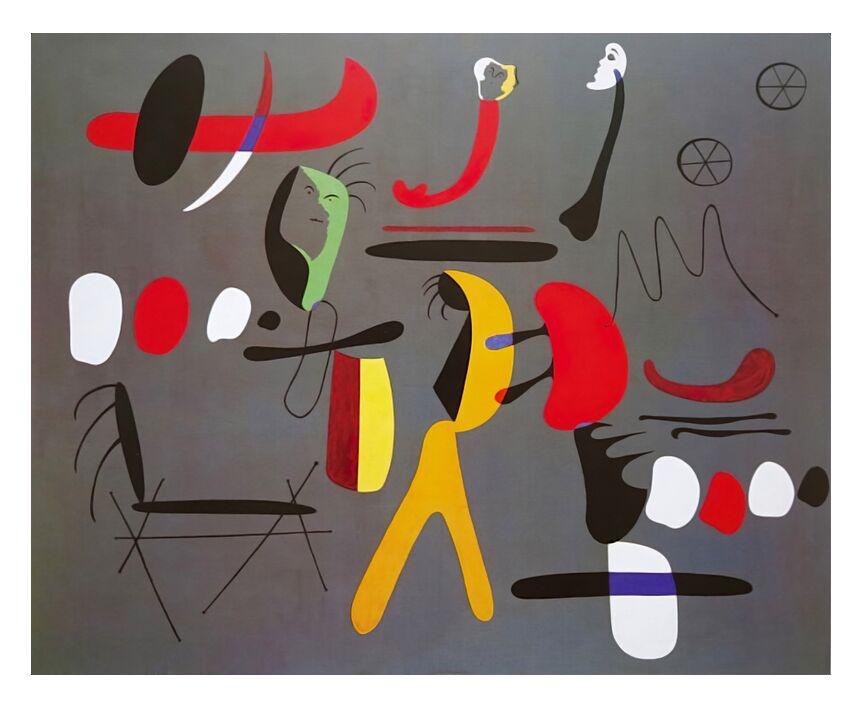 Peinture Collage - Joan Miró de AUX BEAUX-ARTS, Prodi Art, Joan Miró, peinture, collage, abstrait, dessin, formes et couleurs
