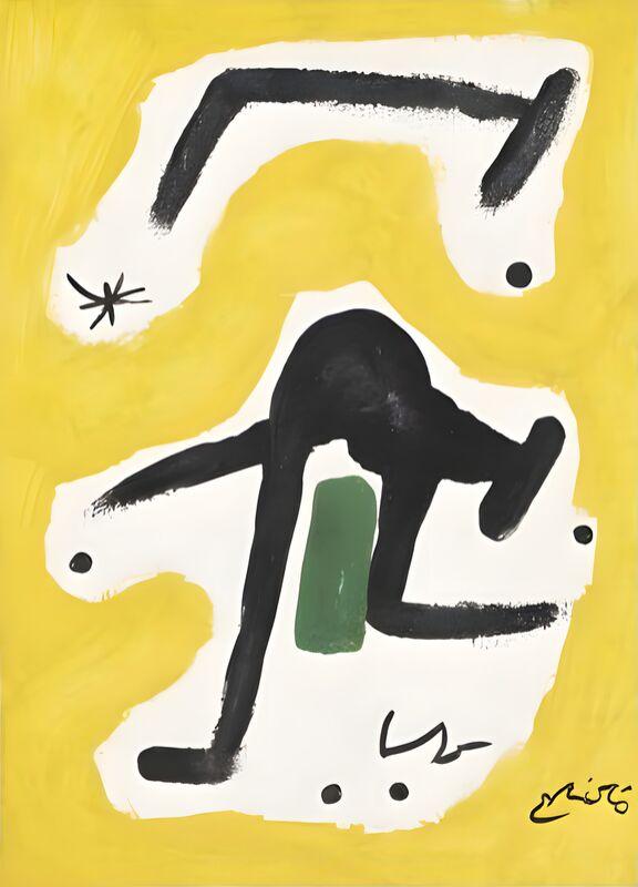 Femme, Oiseaux, Etoile, 1978 - Joan Miró de AUX BEAUX-ARTS Decor Image