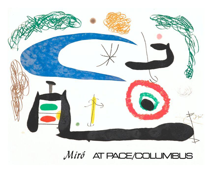 Dormir sous la Lune - Joan Miró de AUX BEAUX-ARTS, Prodi Art, Joan Miró, peinture, abstrait, lune