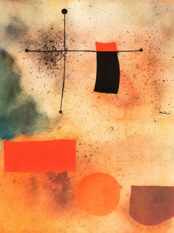 Abstract, c.1935 - Joan Miró desde AUX BEAUX-ARTS Decor Image