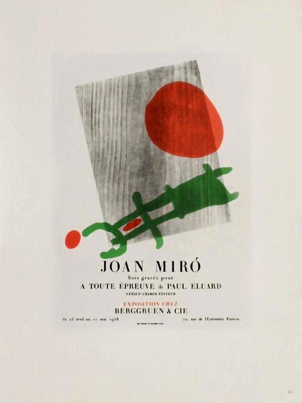 AF 1958,  Berggruen Et Cie - Joan Miró de AUX BEAUX-ARTS Decor Image