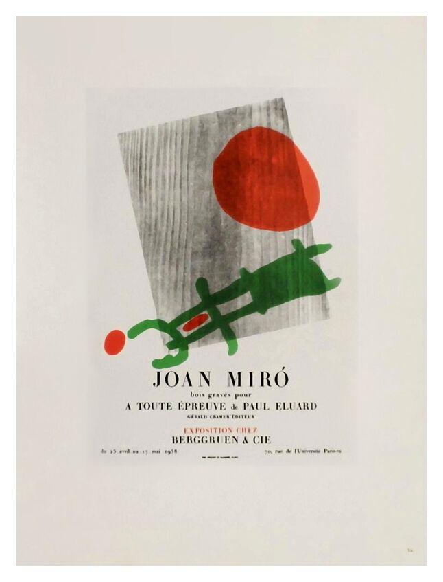 AF 1958,  Berggruen Et Cie - Joan Miró de AUX BEAUX-ARTS, Prodi Art, sculpture, bois, abstrait, Afficher, Joan Miró