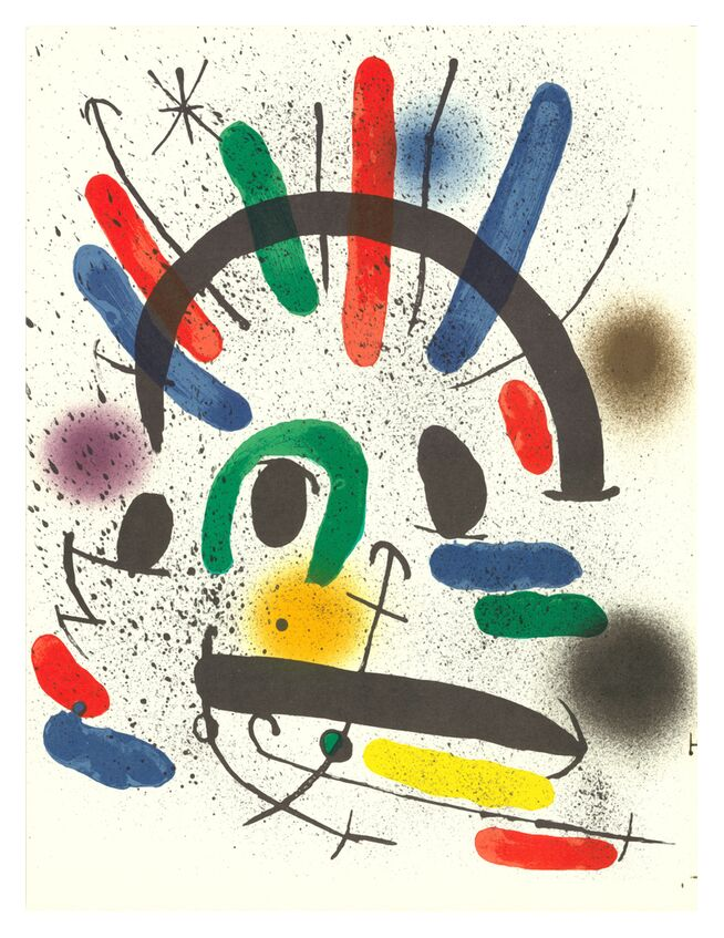 Lithographie originale II - Joan Miró de AUX BEAUX-ARTS, Prodi Art, Joan Miró, peinture, abstrait, lithographie