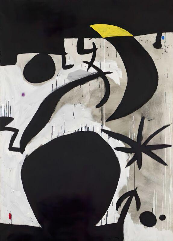 Femme et Oiseaux Dans la Nuit, 1969 - 1974 - Joan Miró de AUX BEAUX-ARTS Decor Image