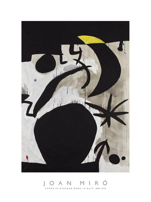Women and Birds in the Night, 1969 - 1974 - Joan Miró desde AUX BEAUX-ARTS Decor Image