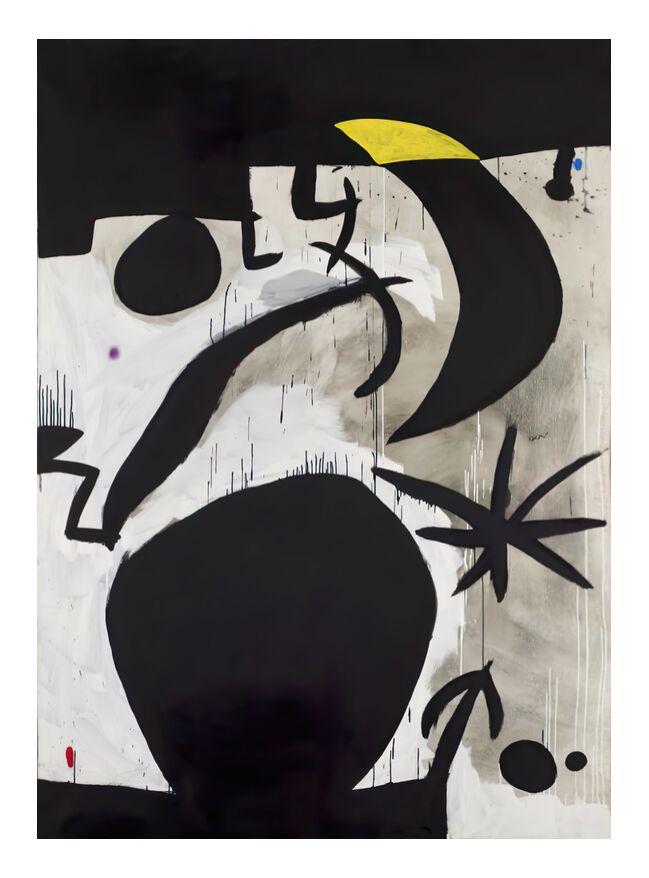 Femme et Oiseaux Dans la Nuit, 1969 - 1974 - Joan Miró de AUX BEAUX-ARTS, Prodi Art, Joan Miró, peinture, abstrait, affiche