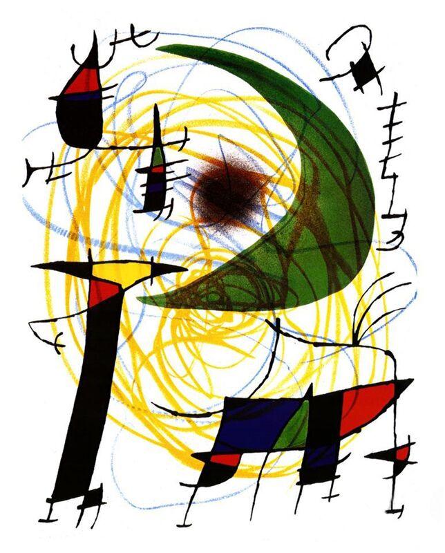 Green Moon - Joan Miró desde AUX BEAUX-ARTS Decor Image