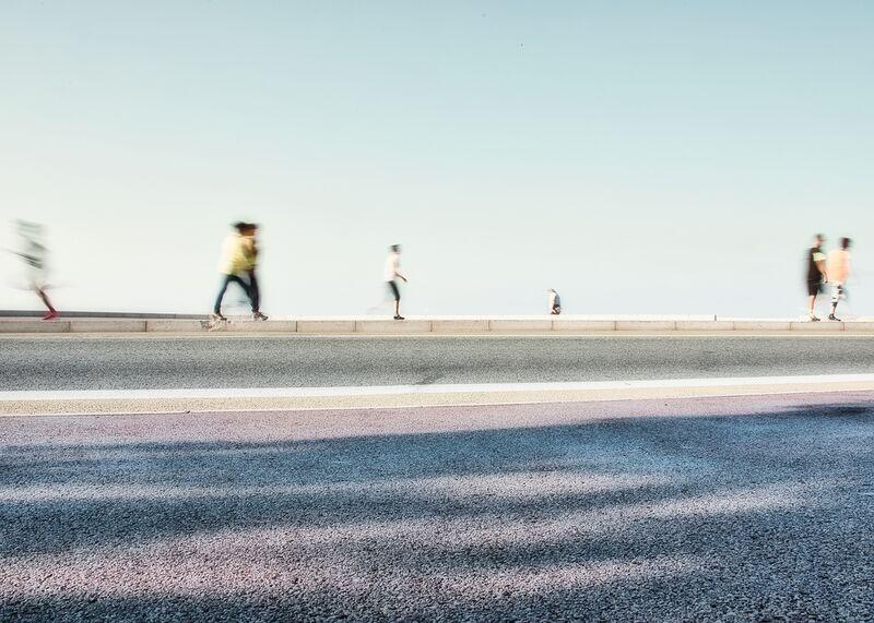 Les joggeurs de Céline Pivoine Eyes Decor Image