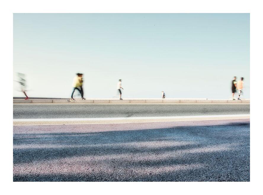 Les joggeurs de Céline Pivoine Eyes, Prodi Art, agréable, personnes, Photographie abstraite, art abstrait, Urbain, paysage, ville, Promeneur, Bitume
