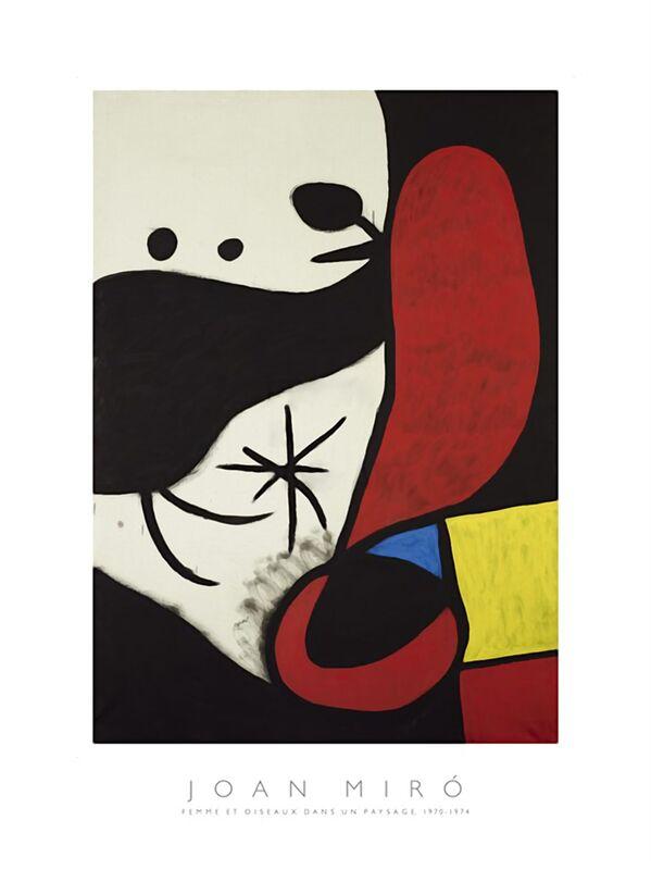 Femme et Oiseaux Dans un Paysage - Joan Miró de AUX BEAUX-ARTS Decor Image