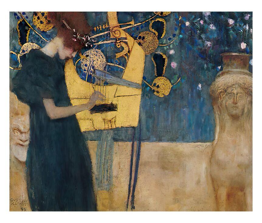 Musique, 1895 - KLIMT de AUX BEAUX-ARTS, Prodi Art, KLIMT, peinture, femme, musique, abstrait, vert
