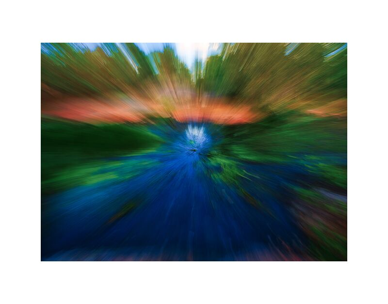 La mare de Céline Pivoine Eyes, Prodi Art, Voyage, paysage, flou artistique, Photographie abstraite, art abstrait, forêt, Fontainebleau, eau, mer, Mouvement intentionnel de la caméra, ICM