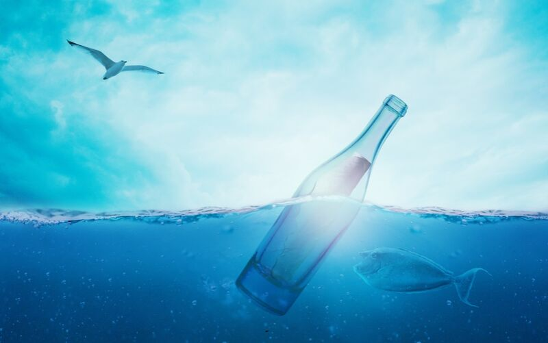A bottle in the sea from Pierre Gaultier Decor Image