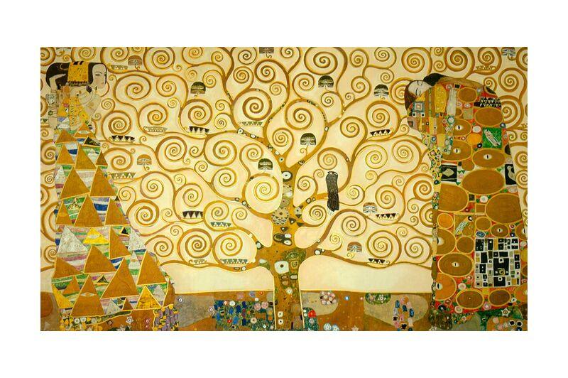Detail of 'The Stoclet Frieze' - Gustav Klimt desde AUX BEAUX-ARTS, Prodi Art, KLIMT, pintura, árbol, amarillo
