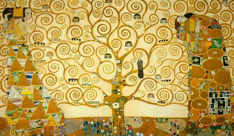"""Détail de la """"Frise de Stoclet"""" - Gustav Klimt de AUX BEAUX-ARTS Decor Image"""