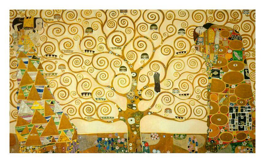 Detail of 'The Stoclet Frieze' - Gustav Klimt from AUX BEAUX-ARTS, Prodi Art, KLIMT, painting, tree, yellow