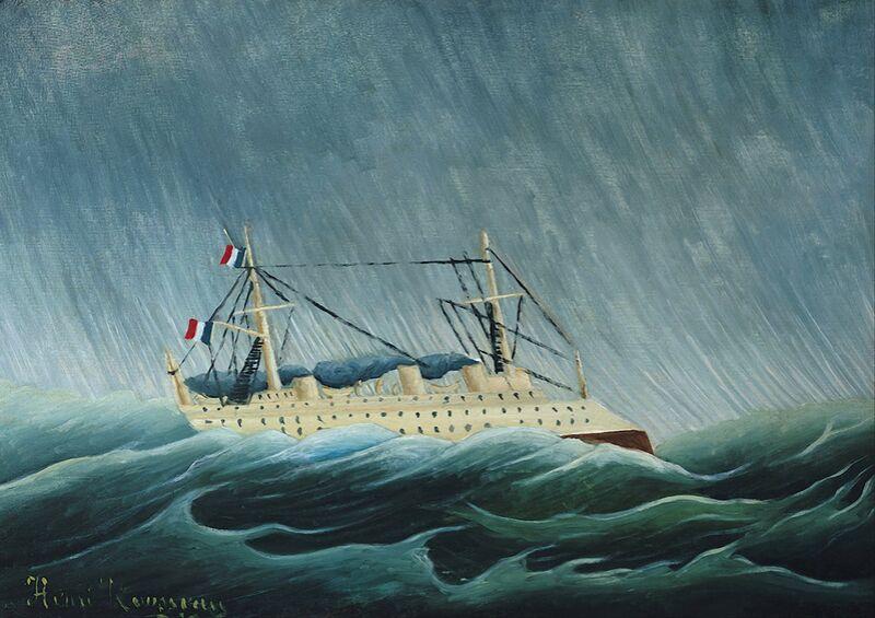 Le Navire dans la tempête de AUX BEAUX-ARTS Decor Image