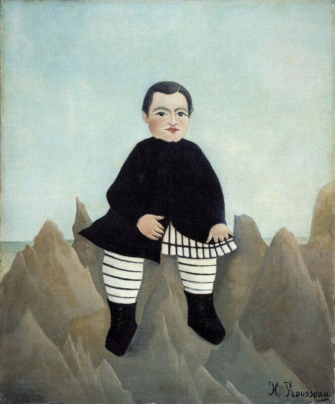 Boy on the Rocks from Aux Beaux-Arts Decor Image