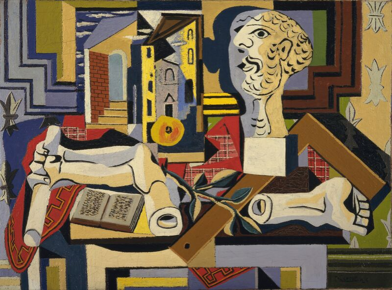 Studio with Plaster Head desde AUX BEAUX-ARTS Decor Image