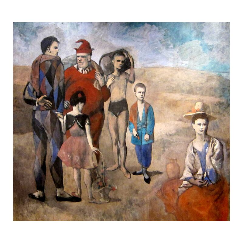 Family of Saltimbanques from AUX BEAUX-ARTS, Prodi Art, picasso, painting, family, beach, summer, sand, acrobats