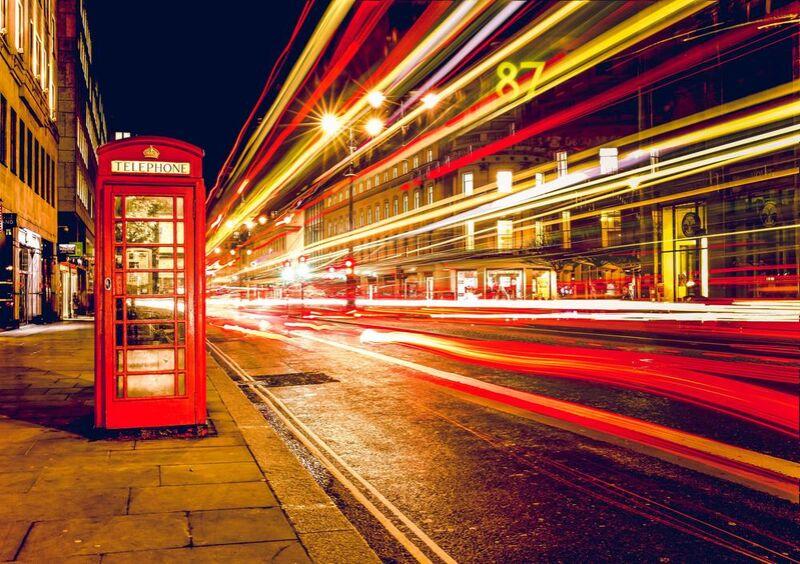 Dans une rue de Londres de nuit de Pierre Gaultier Decor Image