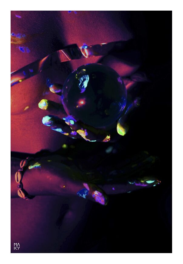 DarkEnergy.1 from Maky Art, Prodi Art, bodypainting, uvlight, woman, photography