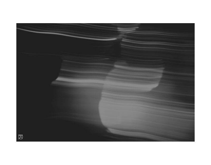 PhaseTransition.3 from Maky Art, Prodi Art, black and white, portrait, abstract, lightpainting