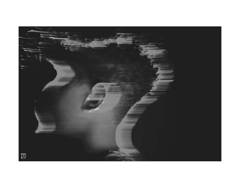 PhaseTransition.1 from Maky Art, Prodi Art, photography, portrait, black and white, light painting