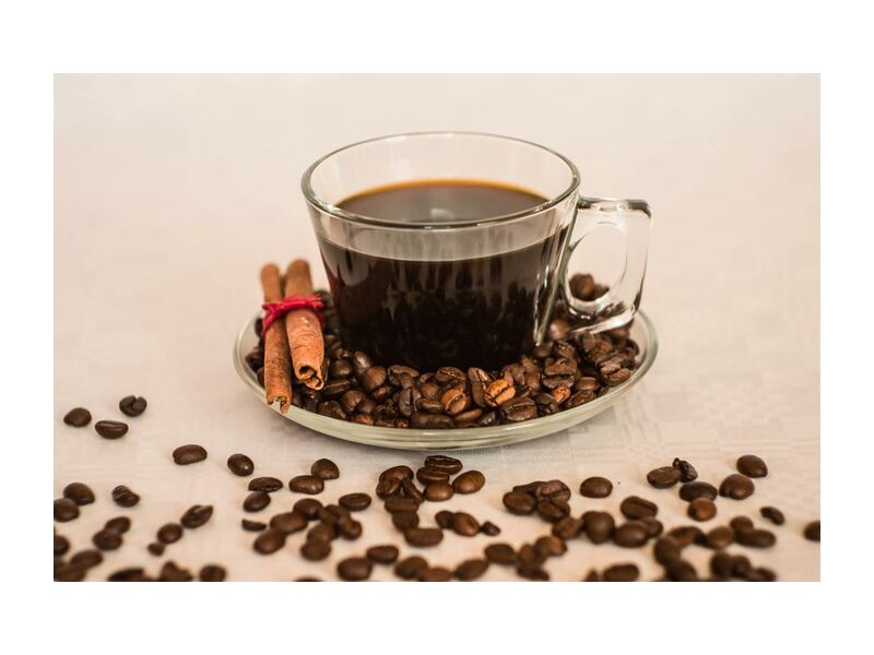 A cup and its beans from Pierre Gaultier, Prodi Art, beverage, cup, coffee beans, coffee, caffeine