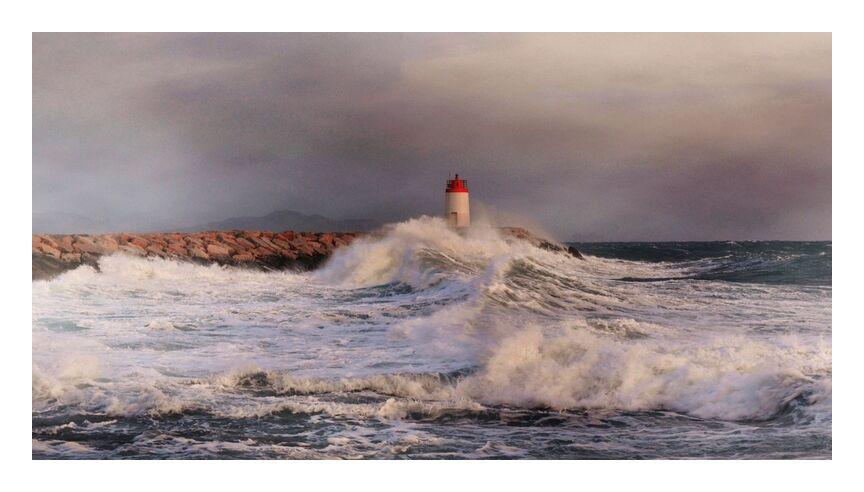 Tempête from Frédéric Traversari, Prodi Art, storm, headlight, sea