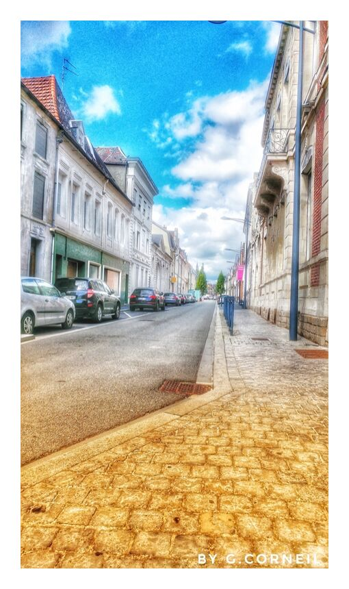 Entre Ciel et Terre - Numéro Un from Guillaume Corneil, Prodi Art, street, art, blue, clouds