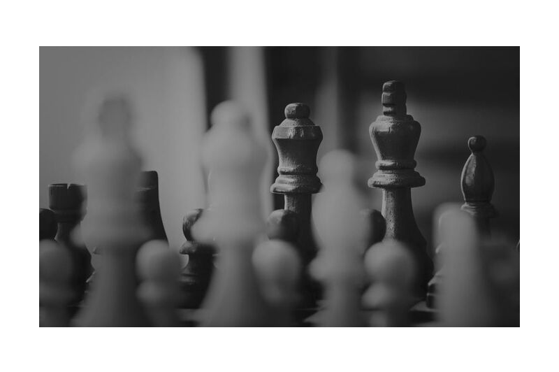 The part from Aliss ART, Prodi Art, chess pieces, queen, pawn, mind game, knight, king, game, chessboard, chess, board game, strategy, black-and-white