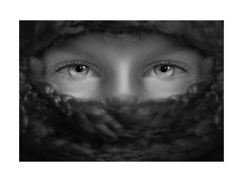 Brilliant look from Aliss ART, Prodi Art, sad eyes, young, person, little, human, eyes, child, boy, black-and-white, lone