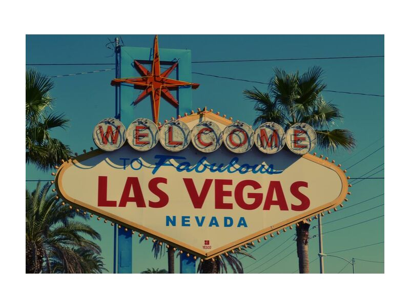 Las Vegas from Aliss ART, Prodi Art, landmark, sign, symbol, tourism, travel, vacation, vintage, destination, Las Vegas, neon sign, signage