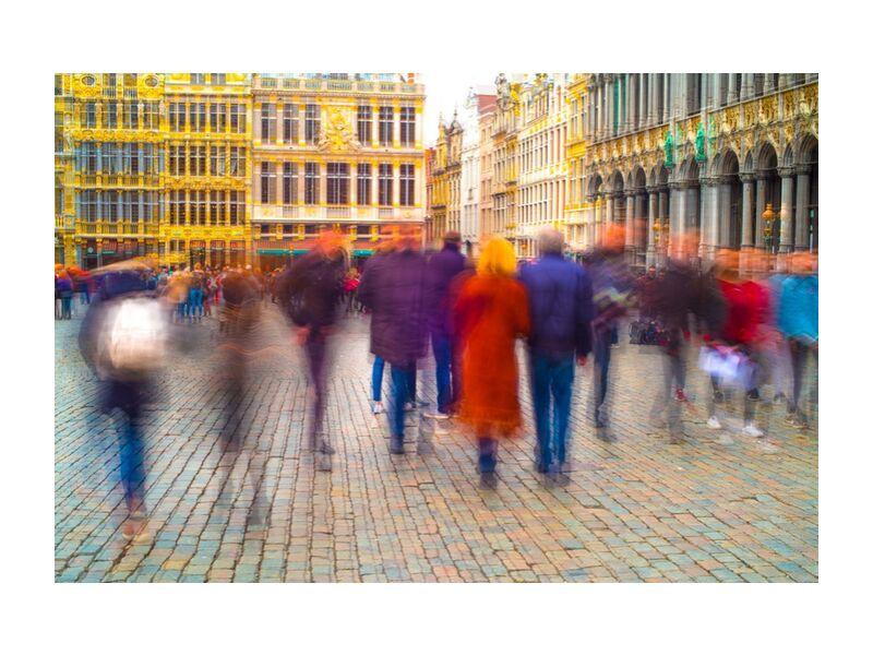 Fantômes Urbains de Pierre Rousseau, Prodi Art, Bruxelles, Belgique, fantômes, flous, personnes, Grand Place, ville, capital, gens, personnages, couleurs