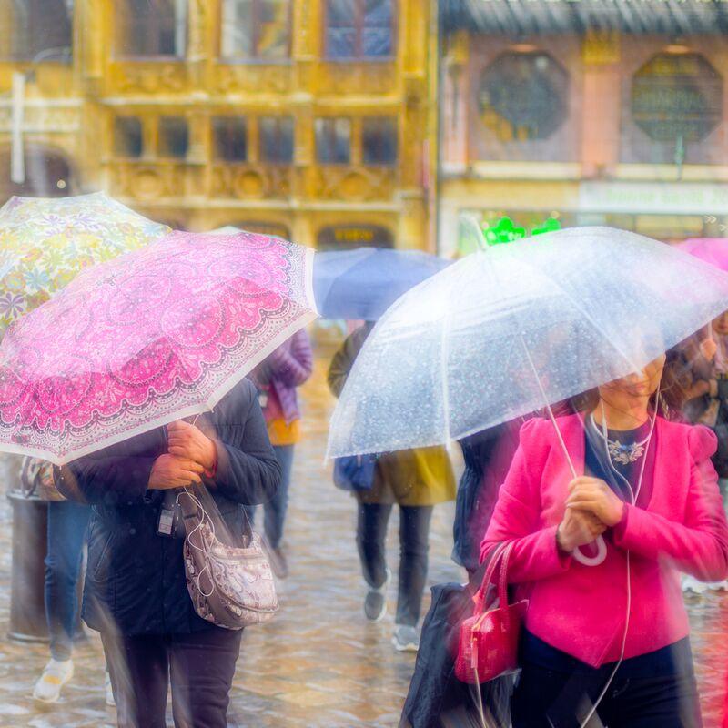 Tourisme sous la pluie de Pierre Rousseau Decor Image