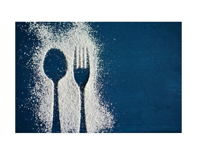 Du sel et des couverts de Pierre Gaultier, Prodi Art, bleu, table, sel, cuillère, fourchette