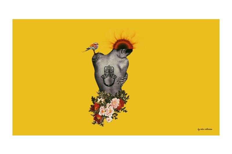 Demi-nue de IULIA CATINEANU, Prodi Art, collage, surrealisme, féminisme, visuels, arts, Oriental, pop Art, nu, nue, floral