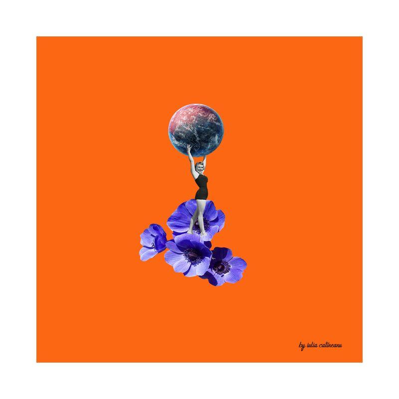Who run the world from IULIA CATINEANU, Prodi Art, planet, art, pop-art, flowers, feminism, woman, , visual arts