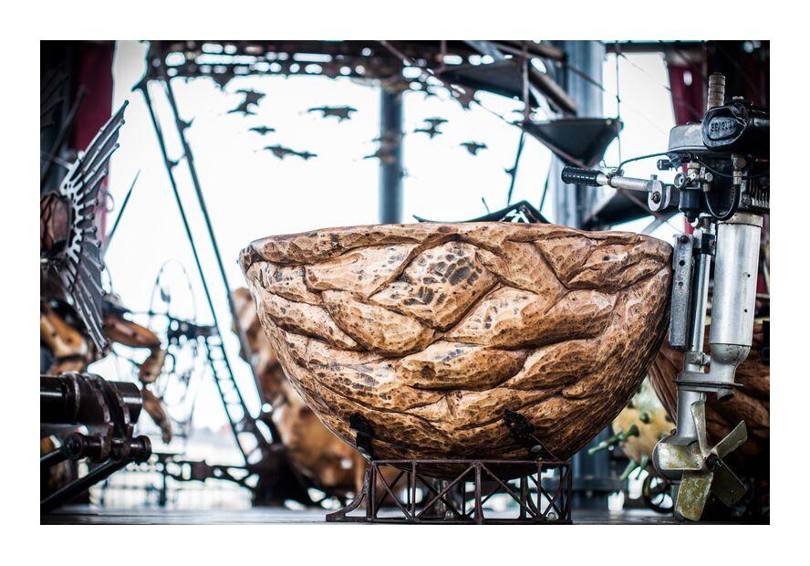Noix - carrousel des mondes marins de Marie Guibouin, Prodi Art, nature, nantes, marie guibouin, Marin, machines de l'ile, manège, noix, carrousel