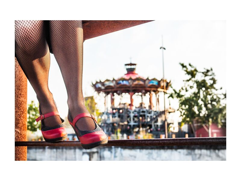 Art H Pied from Marie Guibouin, Prodi Art, shoes, carousel, marine, red, rust, nature, island machines, nantes, marie guibouin, art h foot, industrial