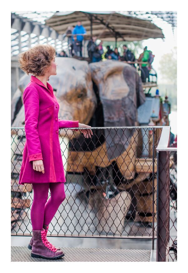 Nell from Marie Guibouin, Prodi Art, in, marie guibouin, people, hangar, , elephant, nantes, island machines, creation, art h foot, pink
