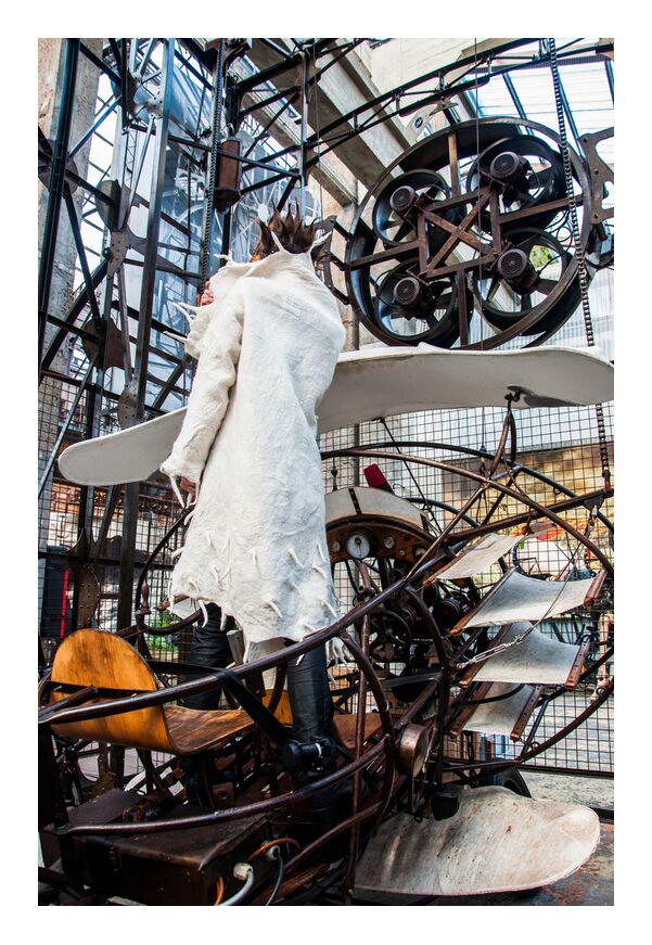 Lulubelle de Marie Guibouin, Prodi Art, laine, lulubelle, femme, manteau, marie guibouin, nantes, métal, pou du ciel, machines de l'ile, avion, feutre