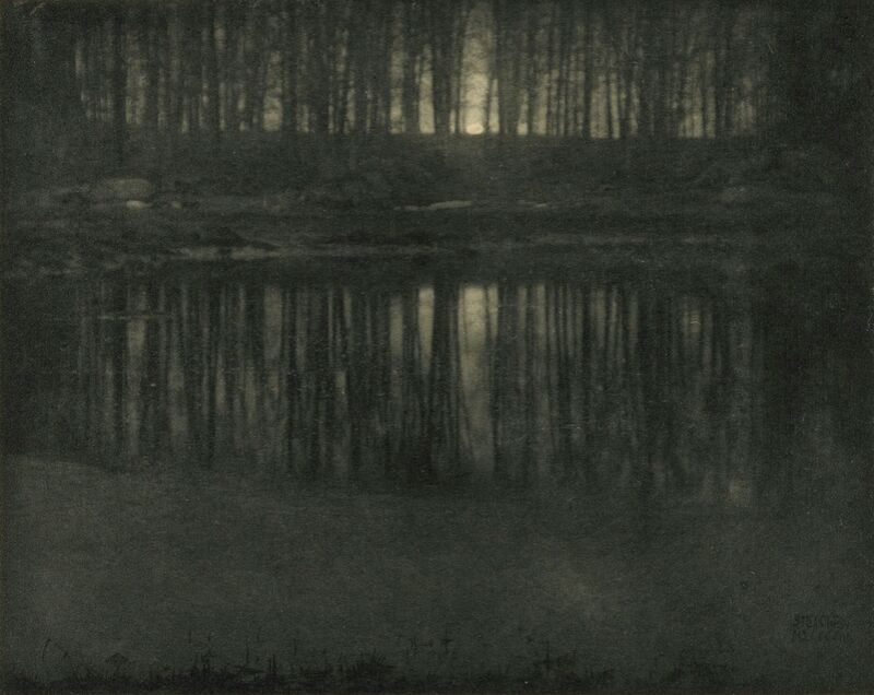 The Pond—Moonlight -Edward Steichen 1904 from Aux Beaux-Arts Decor Image