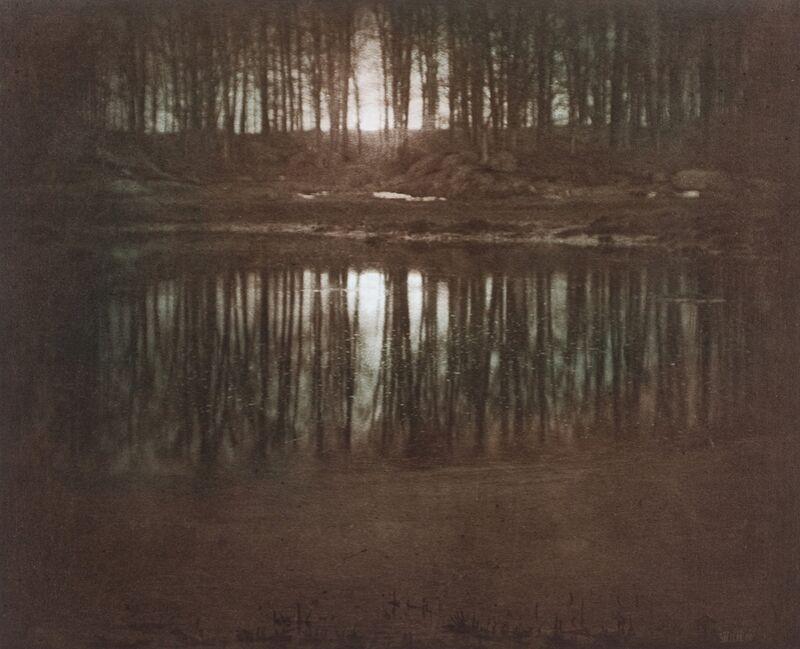 L'étang-lumière de la lune -Edward Steichen 1904 de AUX BEAUX-ARTS Decor Image