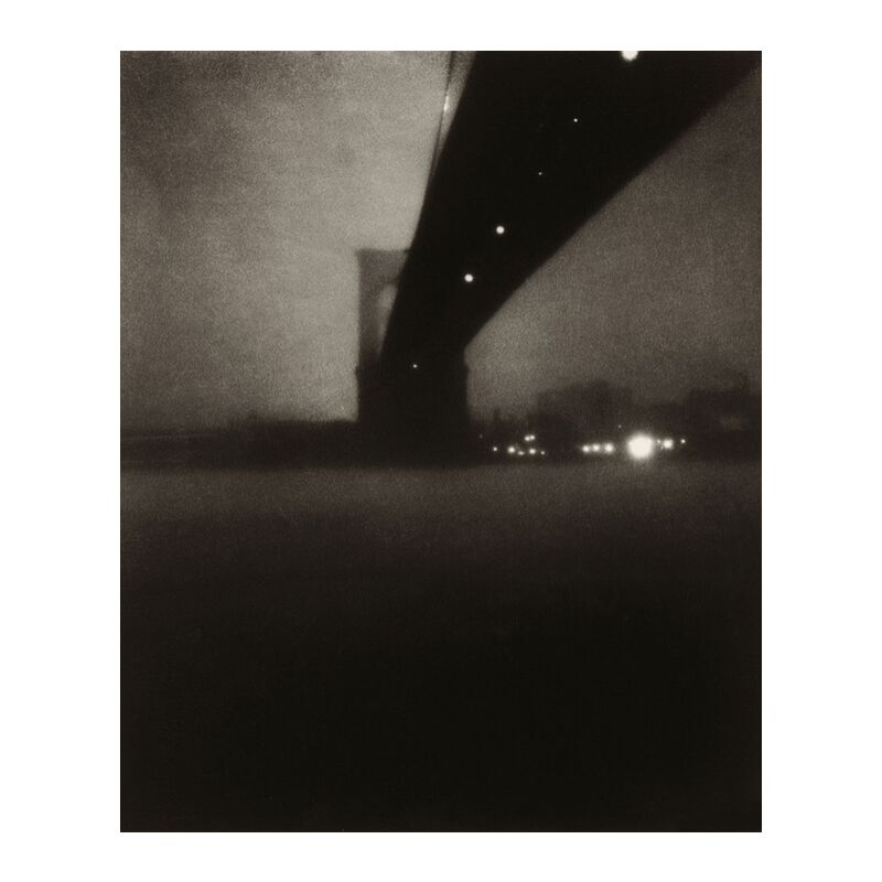 Brooklyn bridge - Edward Steichen 1903 from Aux Beaux-Arts, Prodi Art, edward steichen, city, River, black-and-white, Brooklyn,